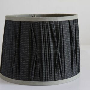 Amera Drum Pleated Cotton Lampshade (14 Inch, Black)