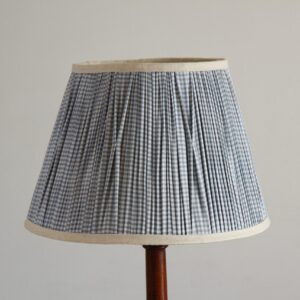 Amera Conical Pleated Cotton Lampshade (16 Inch, Check Print)