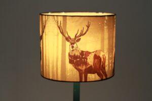 Antelope Printed Silk Lampshade