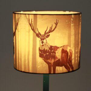 Antelope Printed Cylinder Silk Lampshade