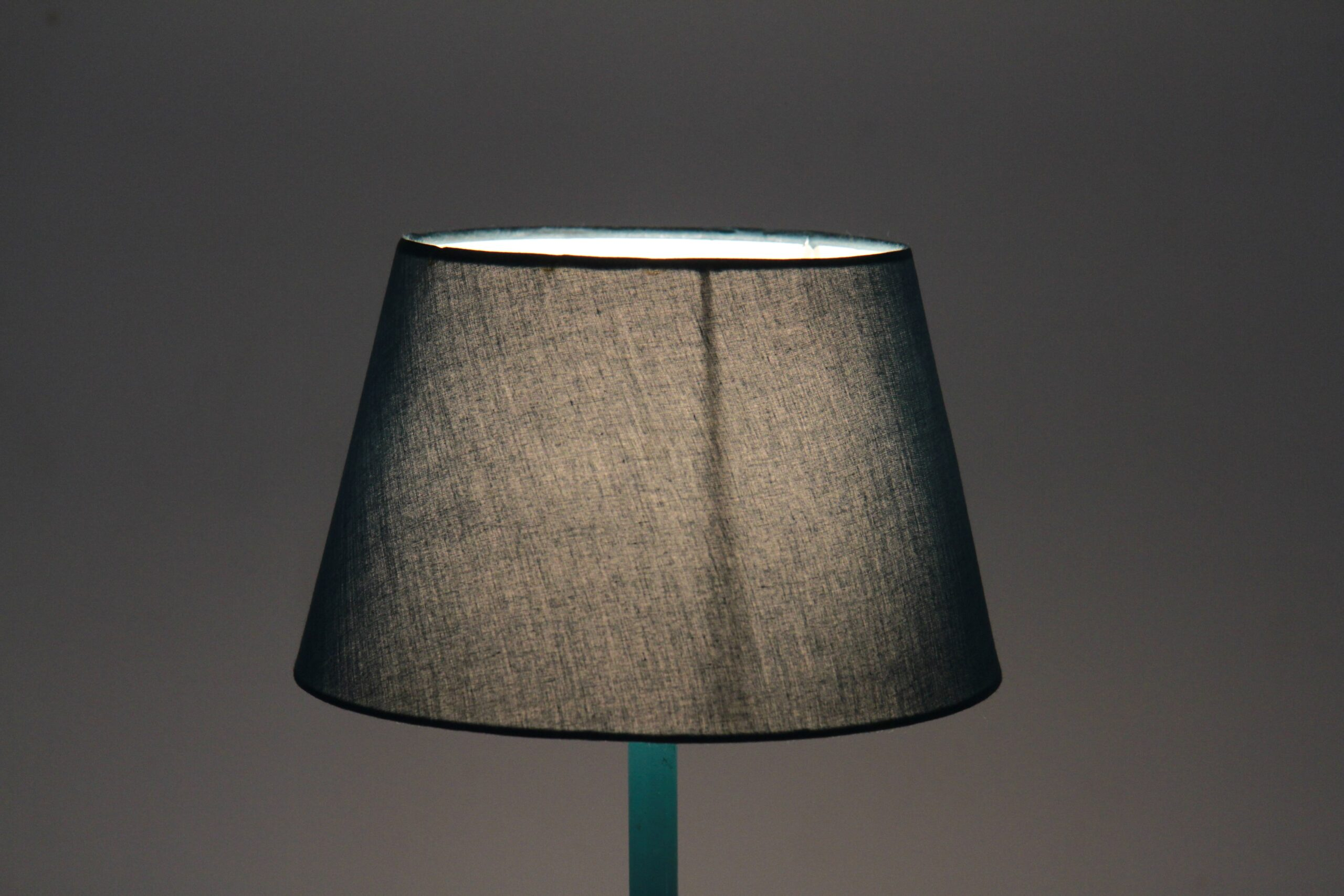 Aqua Conical Cotton Lampshade