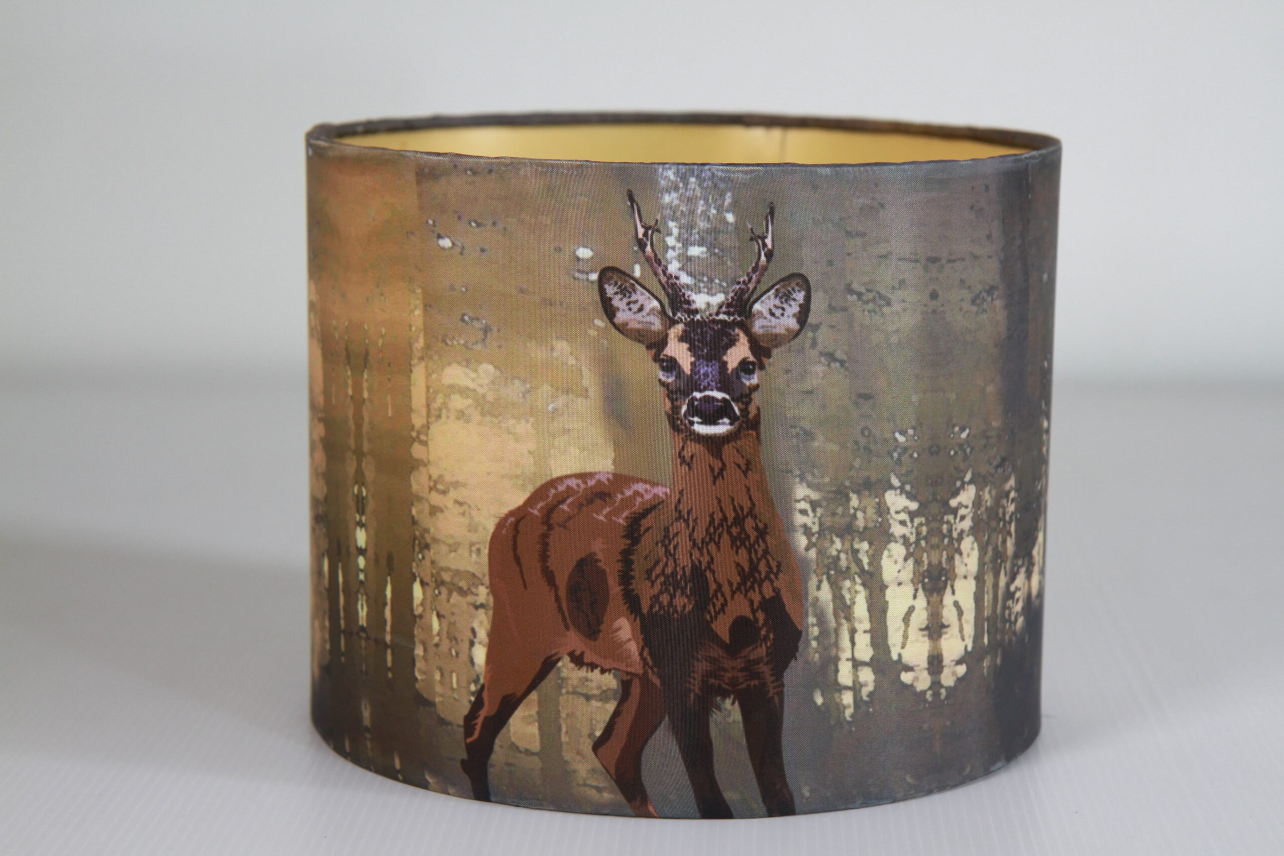 Deer Printed Silk Lampshade