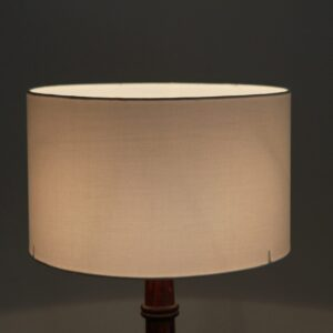 Marble Cylinder Cotton Lampshade (White)