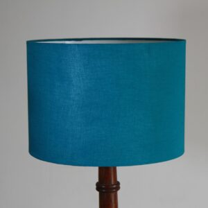 Aqua Cylinder Cotton Lampshade