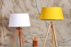 Yellow White Lamps