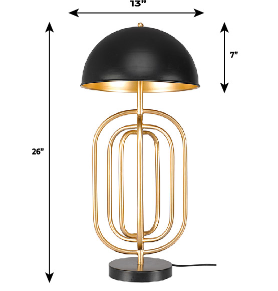 Gold Turner Table Lamp Dimensions